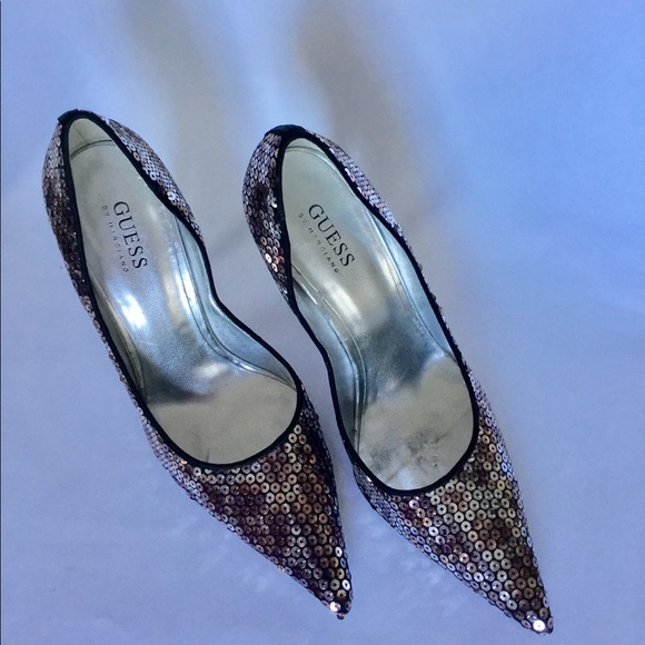 c121f4e9a69 Guess by Marciano Shoes - Guess By Marciano Carrie Lee Sequin Heels 9